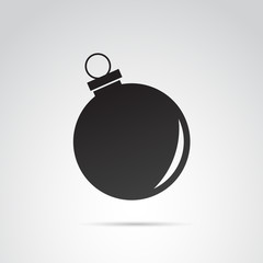 Christmas ball icon isolated on white background. Vector art.