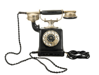 altes antikes telefon mit wählscheibe