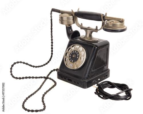 altes antikes telefon mit w hlscheibe stockfotos und lizenzfreie bilder auf bild. Black Bedroom Furniture Sets. Home Design Ideas