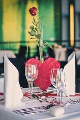 Tischdekoration für Verliebte