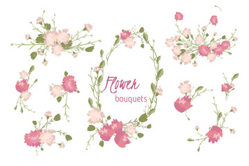Floral carnation retro vintage background