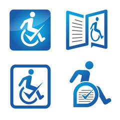 Disabled assisted logo