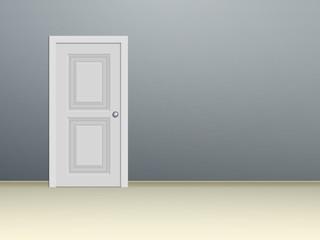 White paneled door