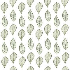 Leaf pattern seamless watercolor