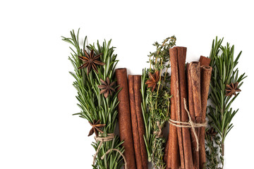 Seasonings and spices  background