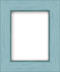 Wooden rectangular photo frame. Vector illustration