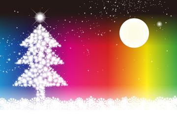 背景素材壁紙,メリークリスマス,招待状,メッセージカード,ツリー,樅の木,デコレーション,装飾,飾り