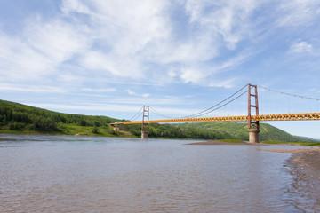 Suspension bridge Dunvegan Alberta Canada