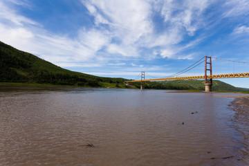 Dunvegan suspension bridge Alberta Canada