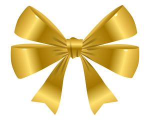 Schleife in Gold (einzeln)