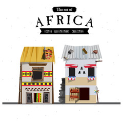 African house style - vector