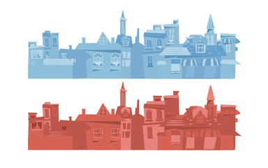 Europe city background - vector
