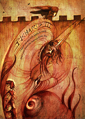 Richard 3rd - unique illustration for the classic play by William Shakespeare featuring the evil king.