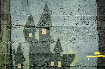 Graffiti tours de manoir