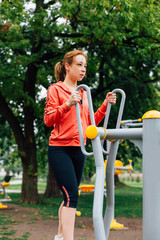 Woman exercise in the park