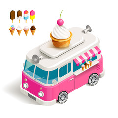 Van with ice cream
