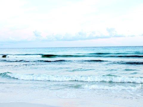waves washing up on shore