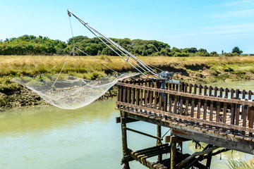 Fishing net on Oleron island, France