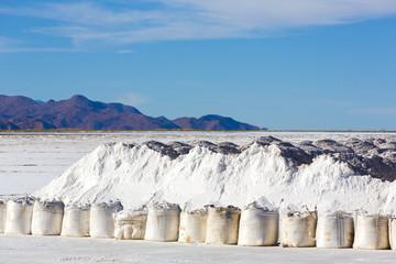 Salt industry in Salinas Grande, Jujuy Province, Argentina