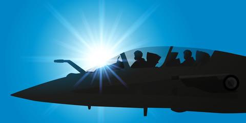 AVION DE CHASSE-Cockpit 2 pilotes