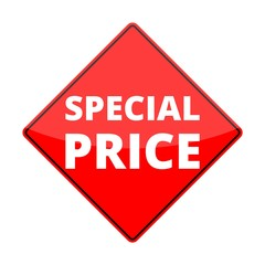 Red special price sign