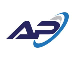 AP Swoosh Letter Logo