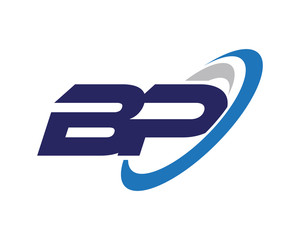 BP Swoosh Letter Logo