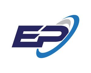 EP Swoosh Letter Logo