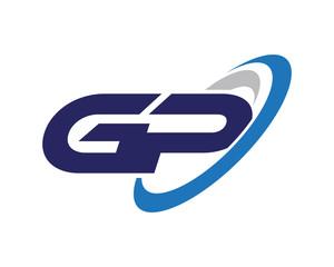 GP Swoosh Letter Logo