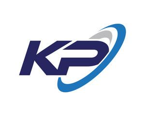 KP Swoosh Letter Logo