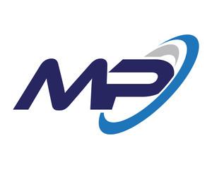 MP Swoosh Letter Logo