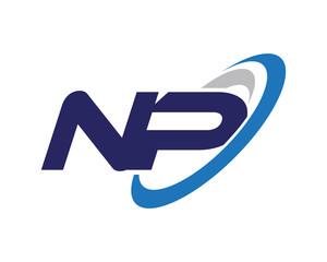 NP Swoosh Letter Logo