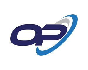 OP Swoosh Letter Logo