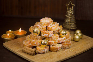 Traditional food for Christmas in Brazil Rabanadas.