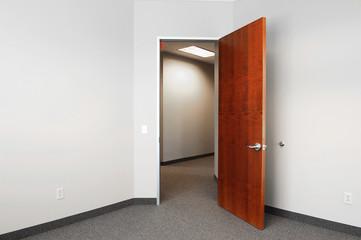 open door of office