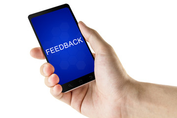 feedback word on digital smart phone