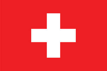 Standard Proportions for Switzerland Flag