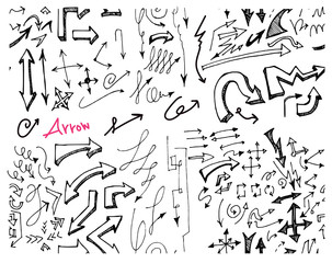 doodle pattern seamless with arrow sketch