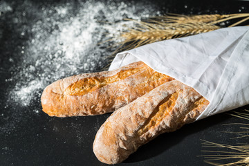 Baguette bread with wheat 5