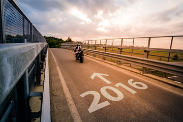 Motorcycle riding in 2016
