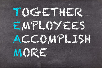 Team, together, employees, accomplish, more, business motivation