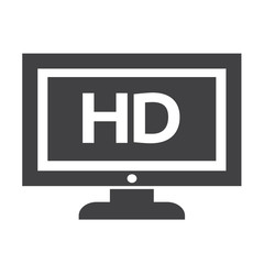 HD tv icon design Illustration