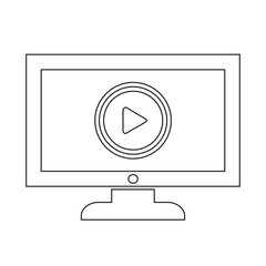 play button tv icon design Illustration