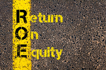 Accounting Business Acronym ROE Return On Equity