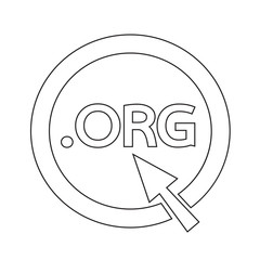 Domain dot org sign icon Illustration