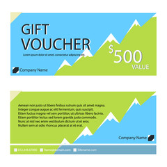 Gift voucher,Coupon template with flat design
