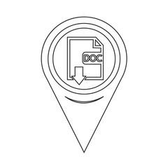 Map Pin Pointer File type DOC icon