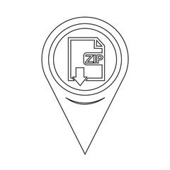 Map Pin Pointer File type ZIP icon