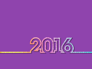 Vector colorful new year 2016