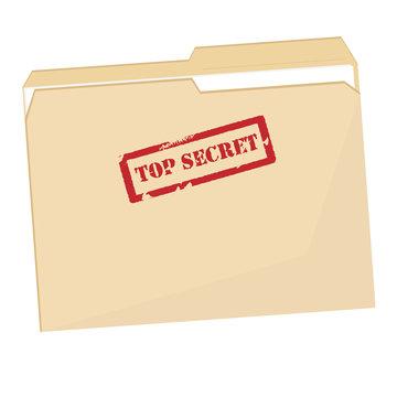 File folder with stamp top secret